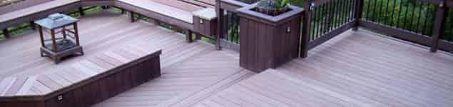 Deck de madera y piso para exteriores for Deck para exteriores